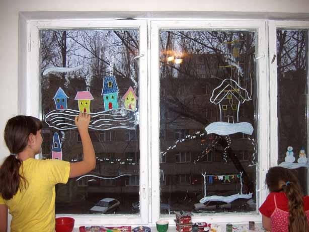 Из чего сделать узоры на окне